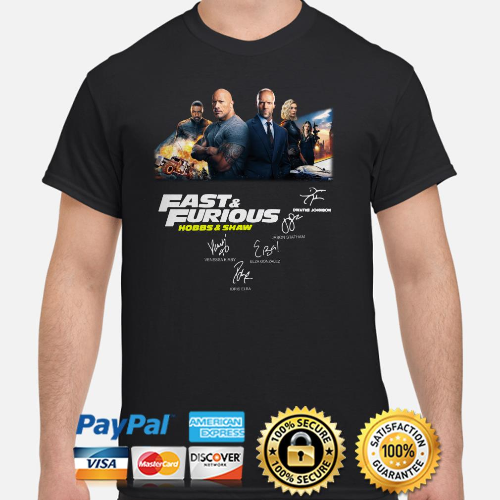Fast and Furious Hobbs and Shaw signatures shirt