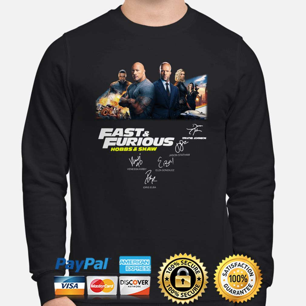 Fast and Furious Hobbs and Shaw signatures sweater