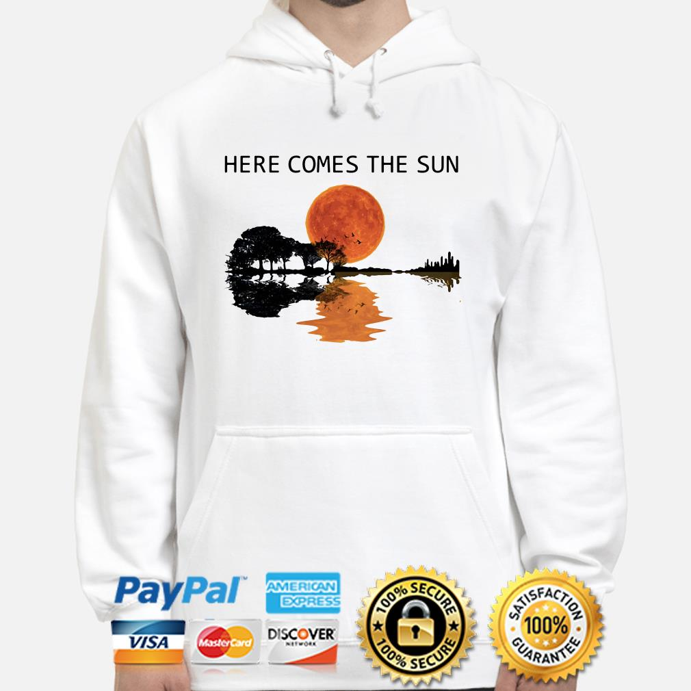 Guitar Forest here comes the sun hoodie
