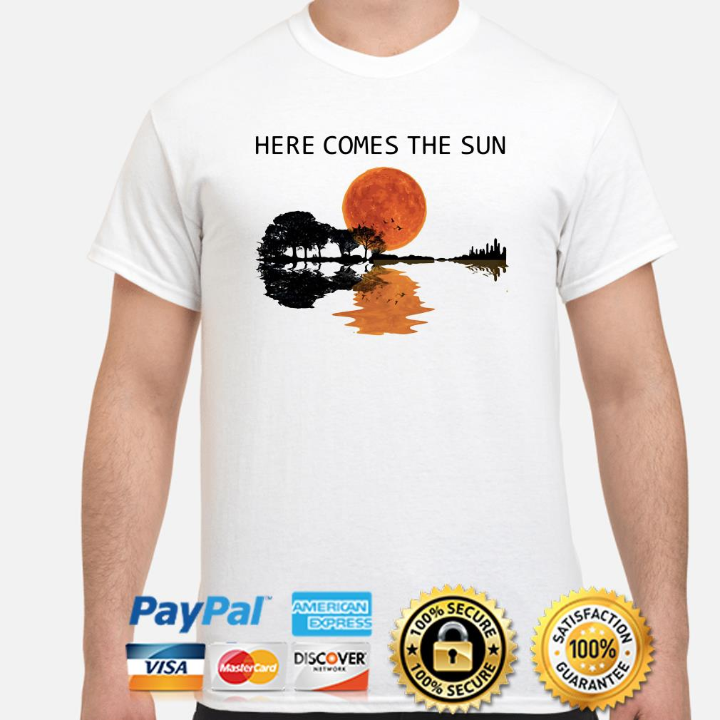 Guitar Forest here comes the sun shirt