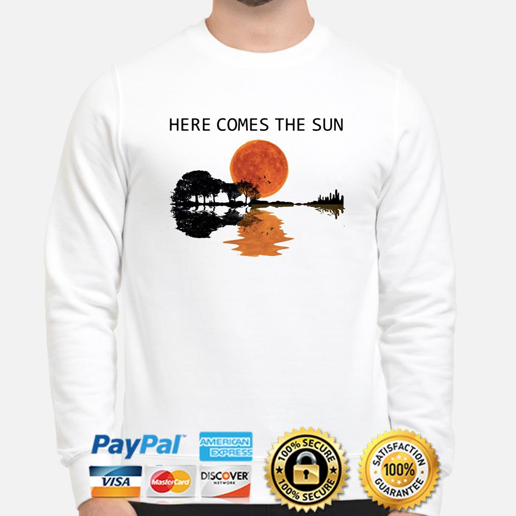 Guitar Forest here comes the sun sweater