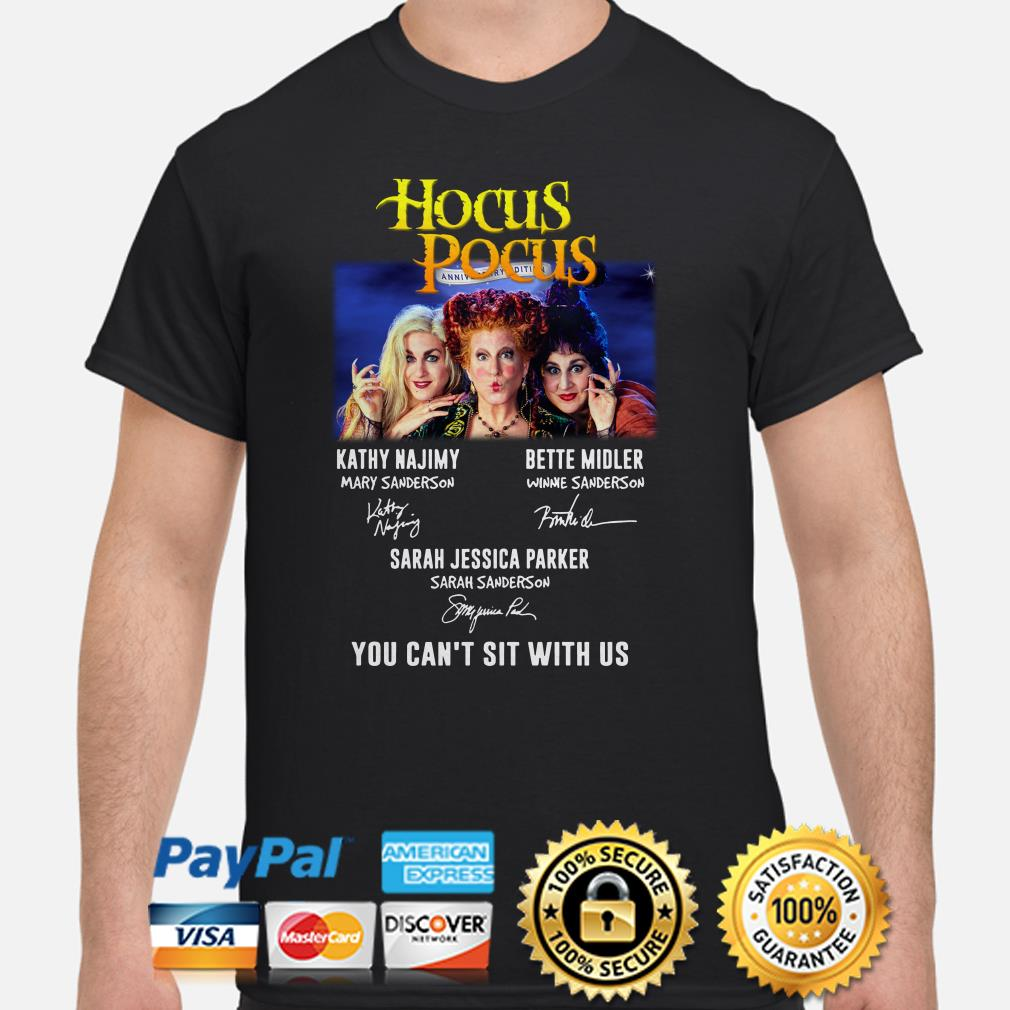 Hocus Pocus Anniversary edition you can't sit with us shirt