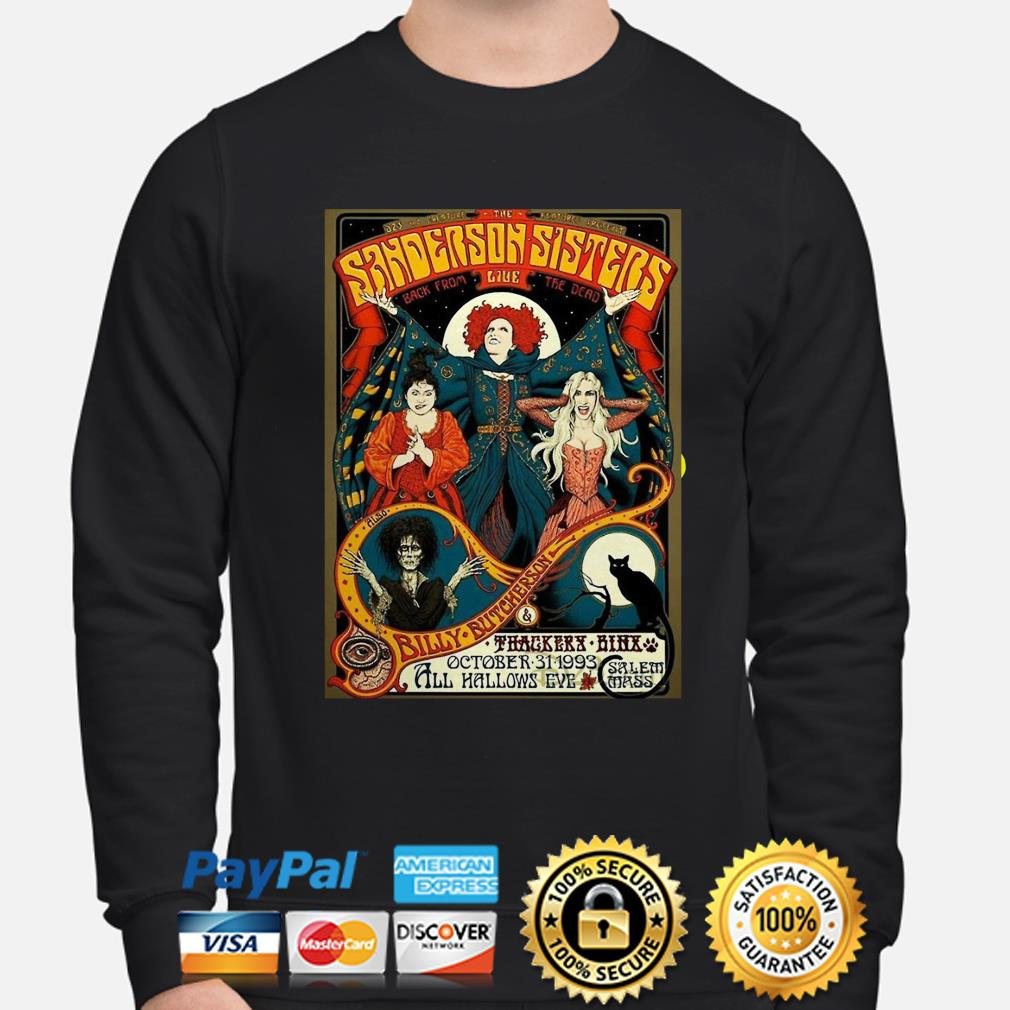 Hocus Pocus Sanderson Sisters back from live the dead Halloween sweater