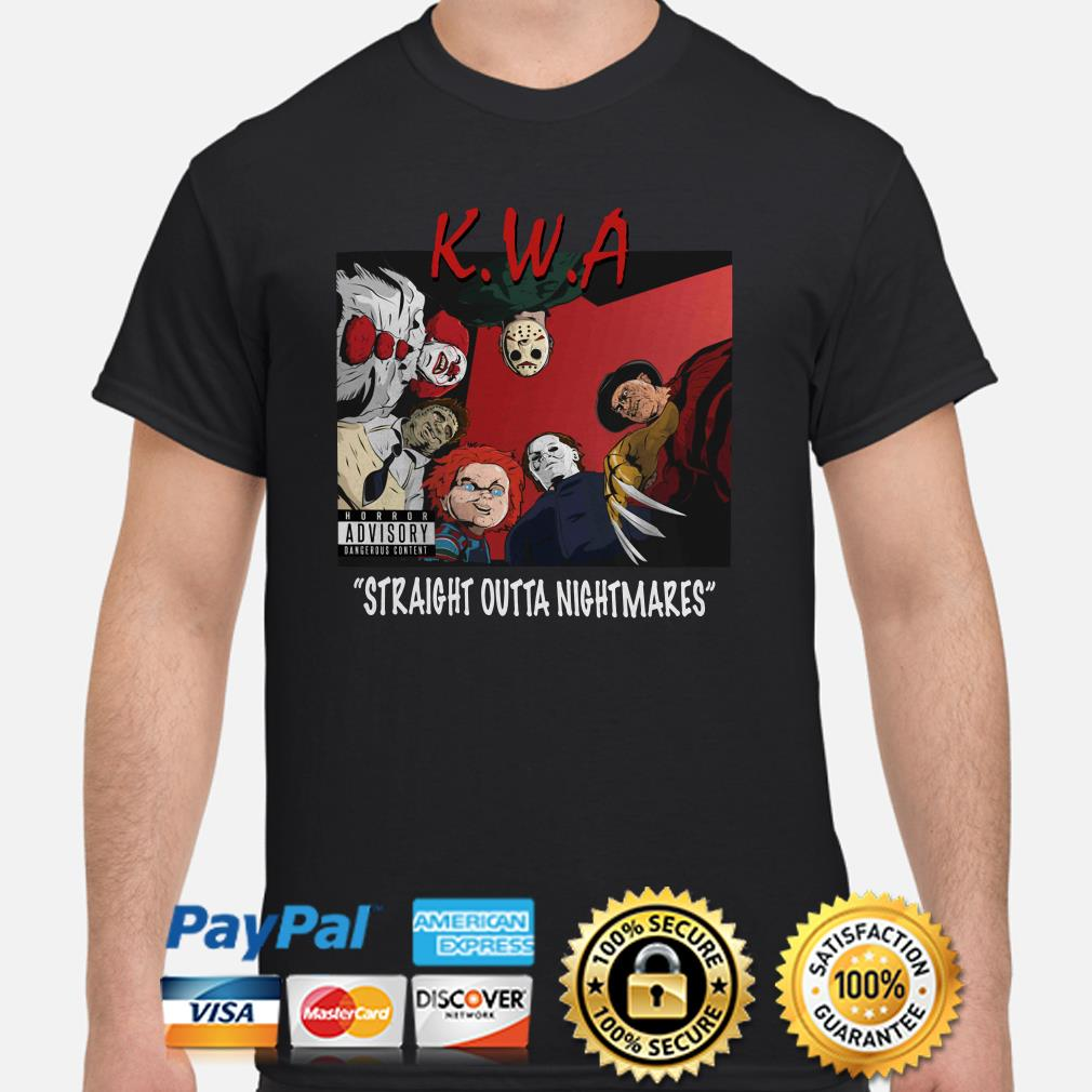 Horror characters KWA Straight Outta Nightmares shirt