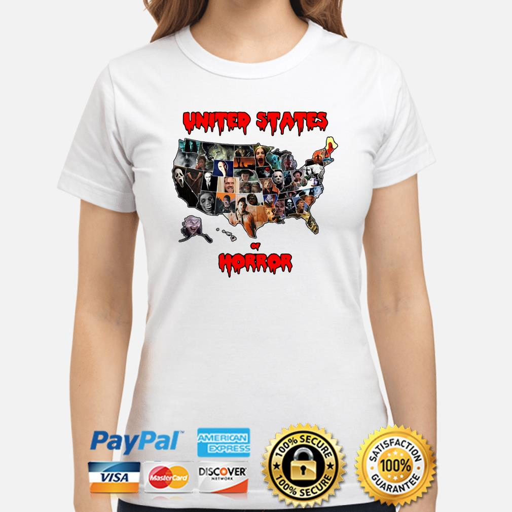 Horror characters United States of Horror ladies shirt