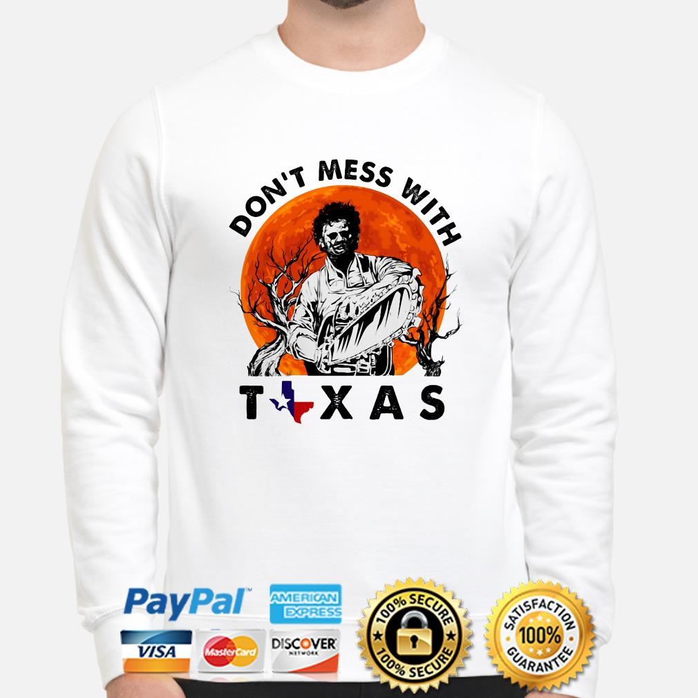 Leatherface Don't mess with Texas Halloween sweater