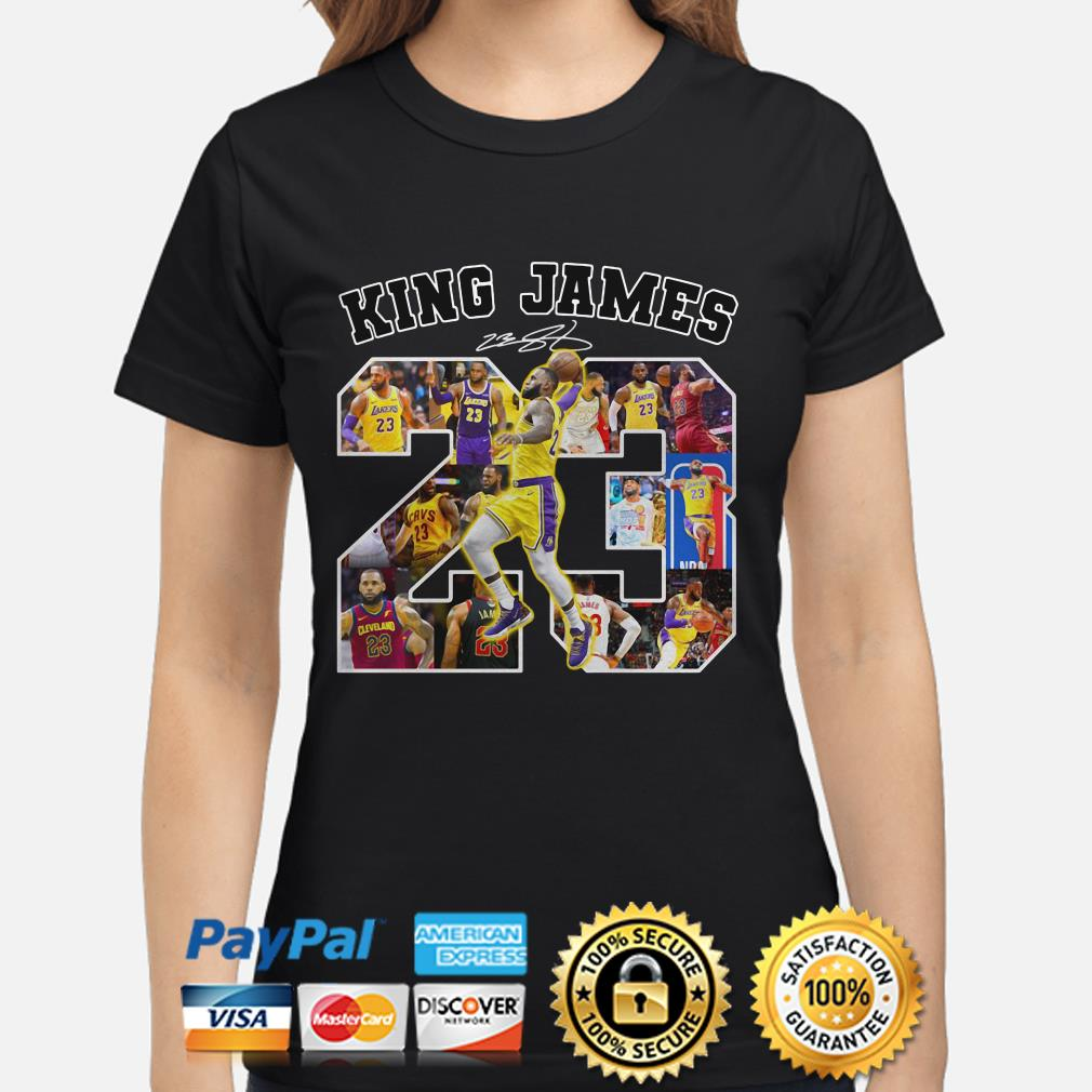 Lebron James King James 23 signature ladies shirt