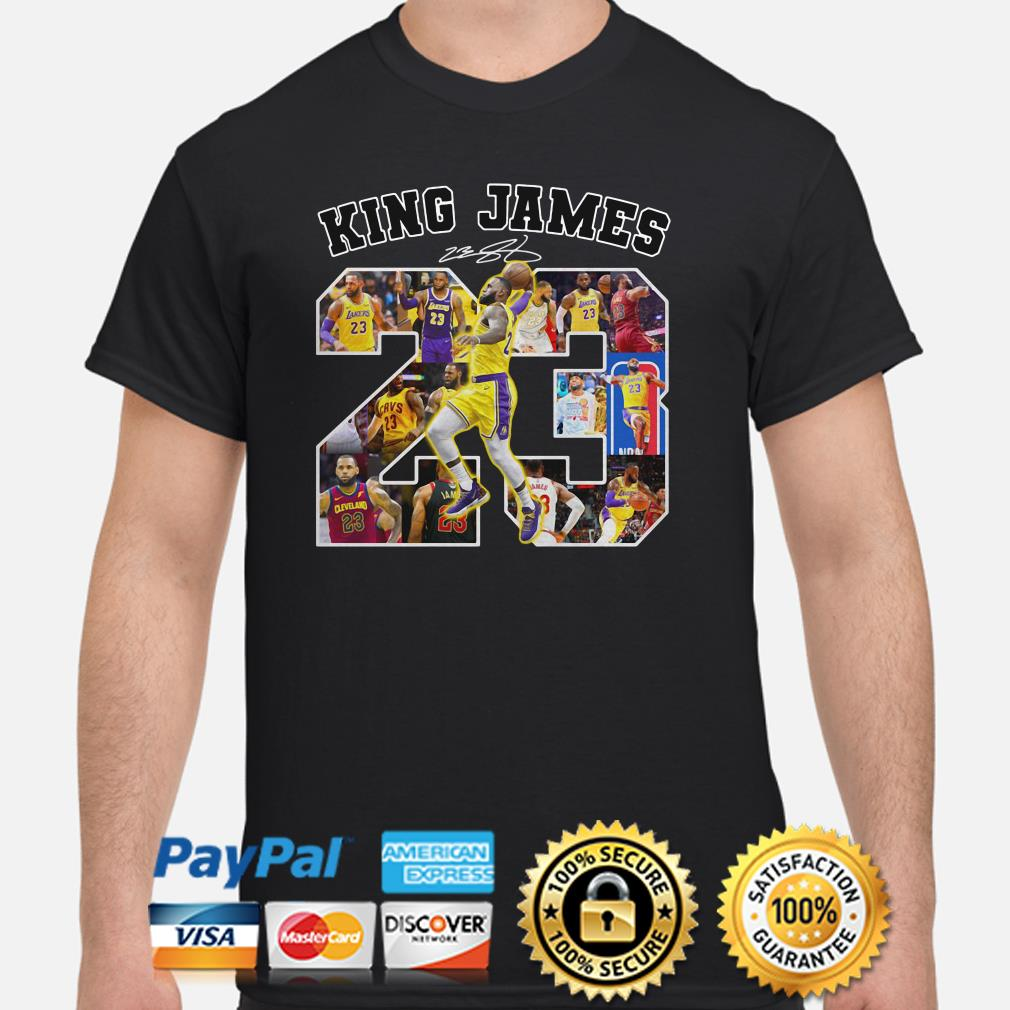 Lebron James King James 23 signature shirt