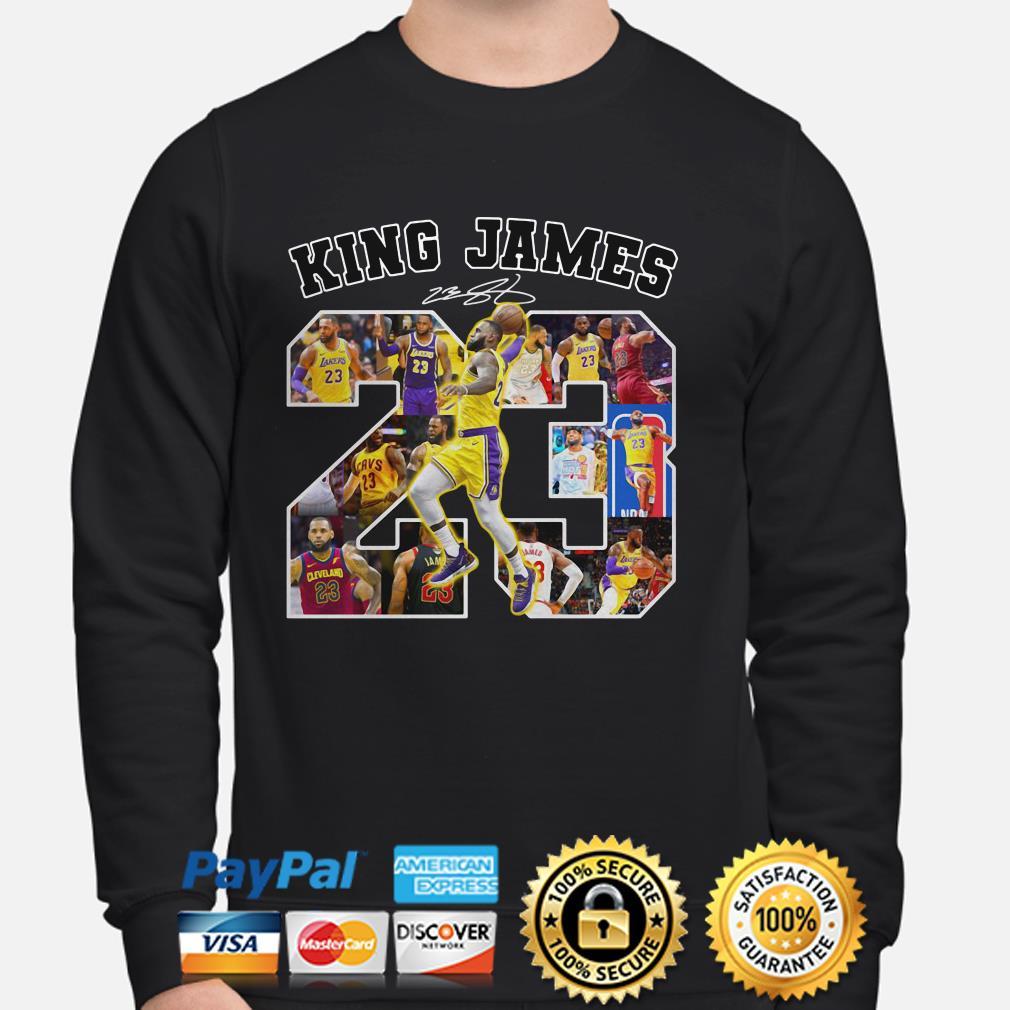 Lebron James King James 23 signature sweater
