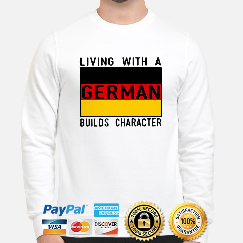 Living with a German Builds character flag sweater