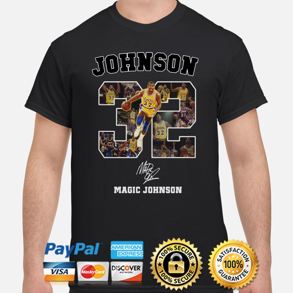 Los Angeles Lakers Magic Johnson signature shirt