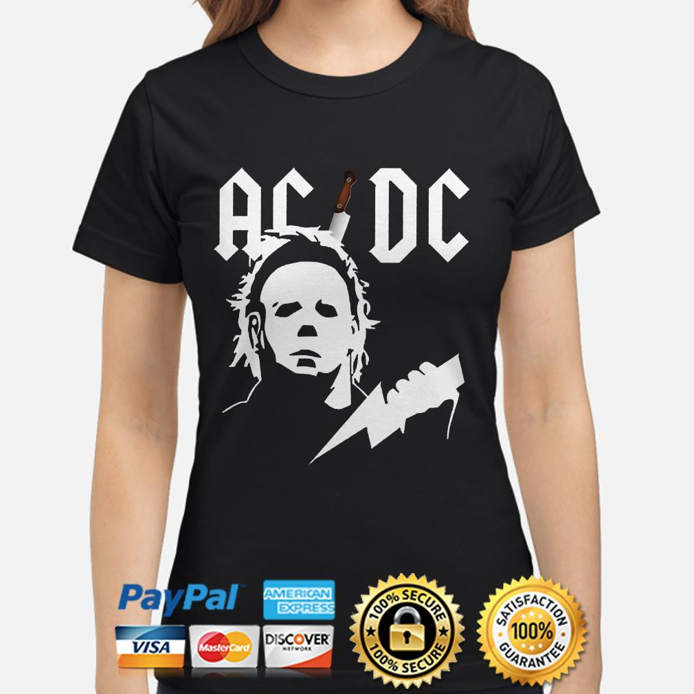 Michael Myers ACDC ladies shirt