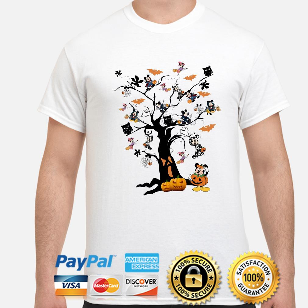 Mickey mouse Pumpkin Halloween tree shirt