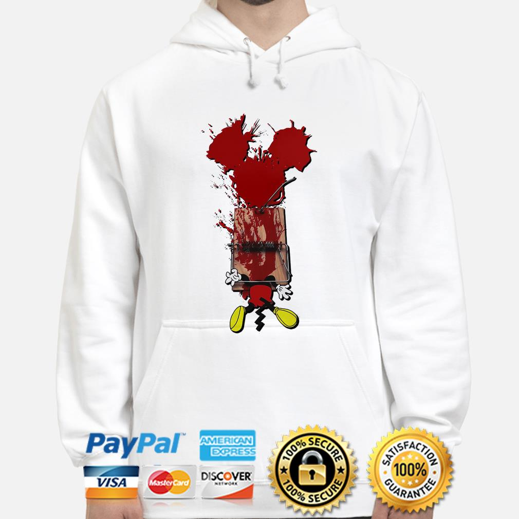 Mickey mouse trapped horror hoodie