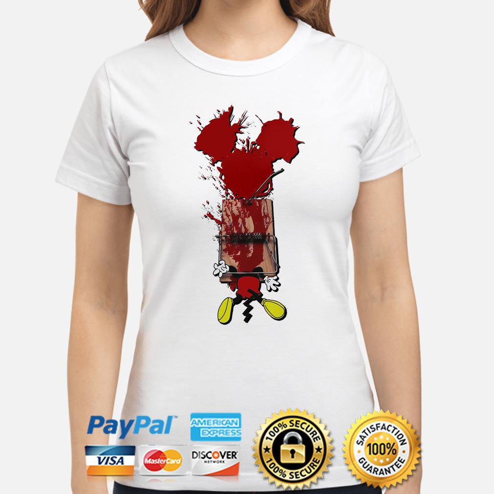 Mickey mouse trapped horror ladies shirt
