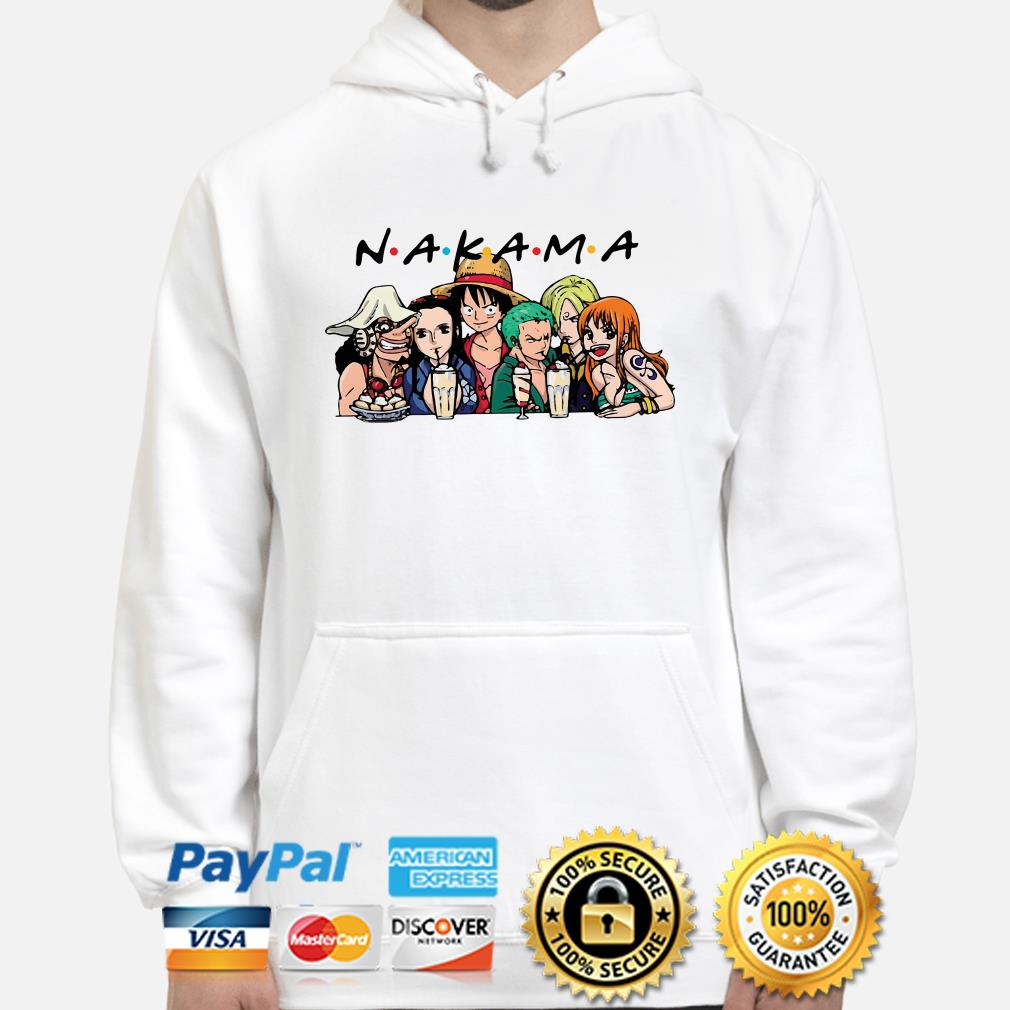 One Piece characters Nakama Friends TV show hoodie