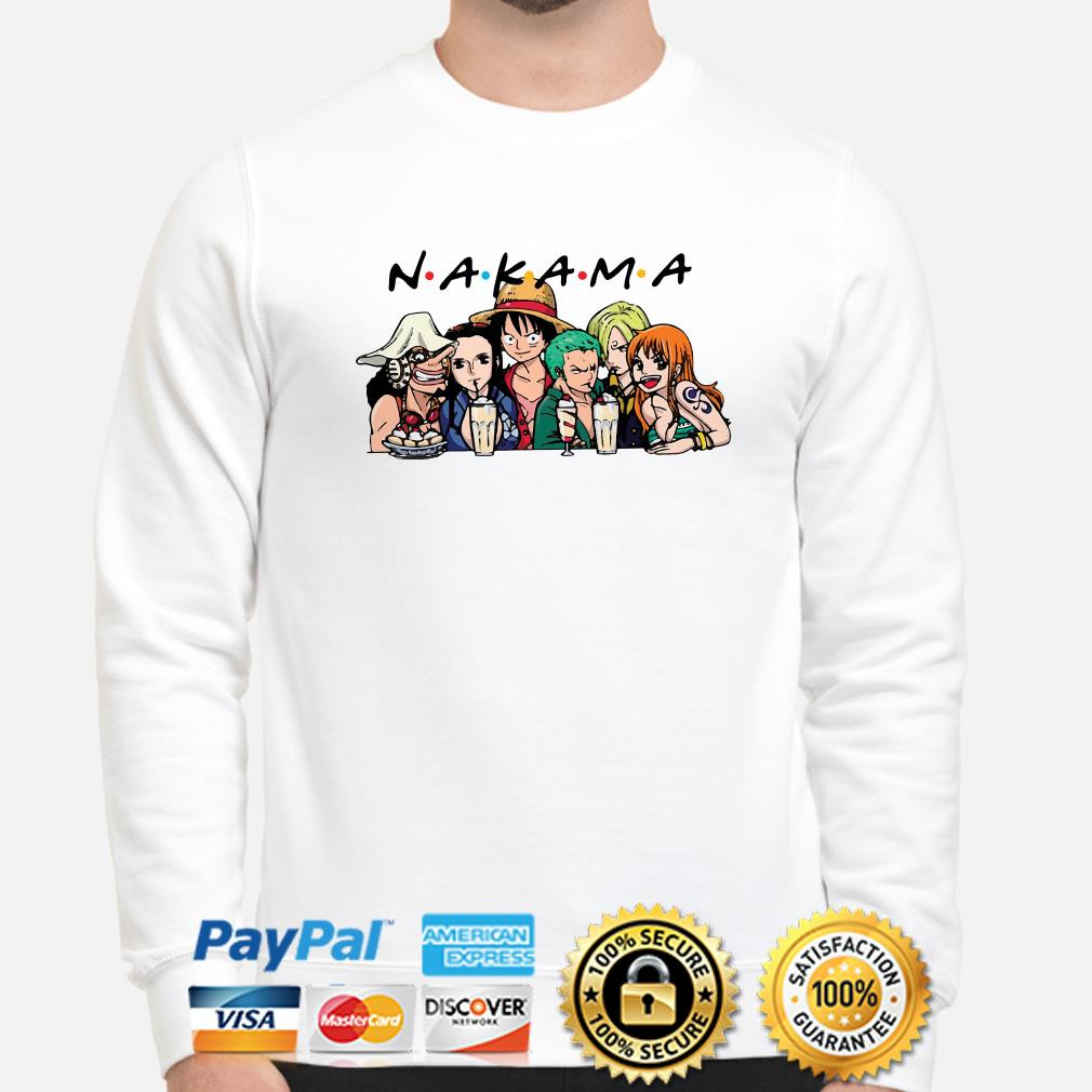 One Piece characters Nakama Friends TV show sweater