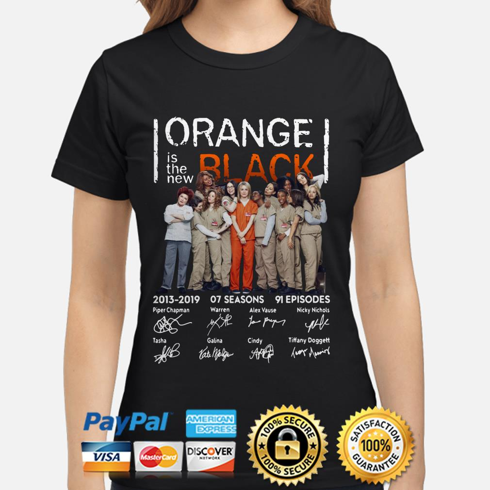 Orange Is The New Black 2013 2019 signatures ladies shirt