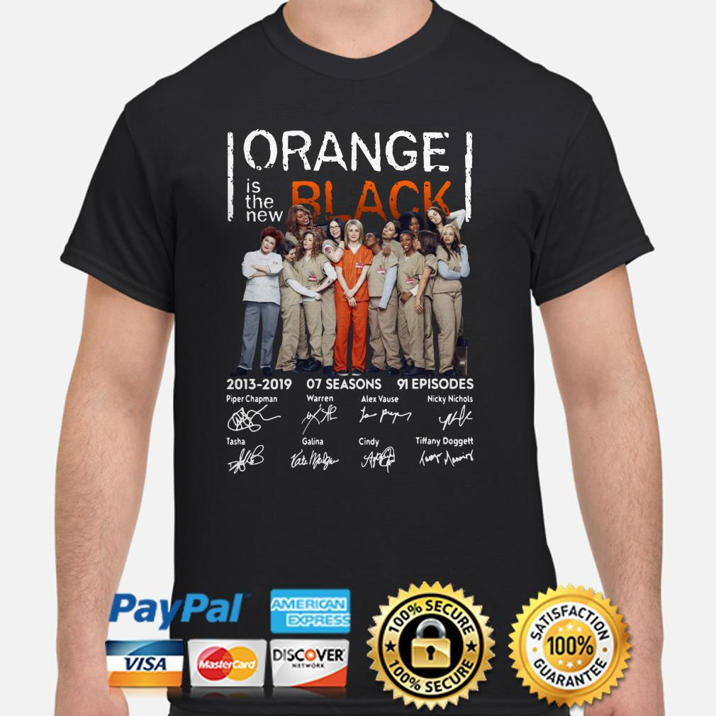 Orange Is The New Black 2013 2019 signatures shirt