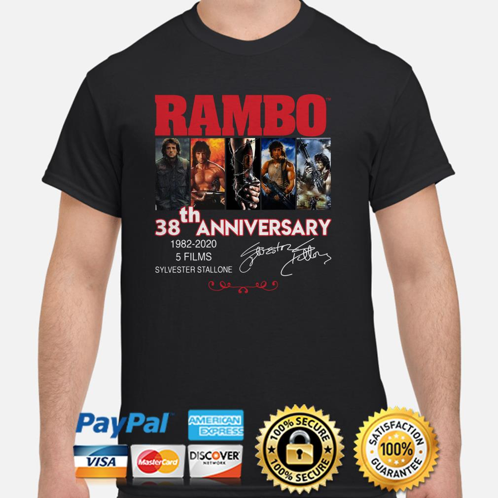 Rambo 38th Anniversary signature shirt