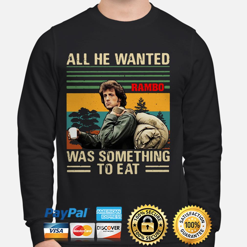 Rambo All he wanted was something to eat vintage sweater