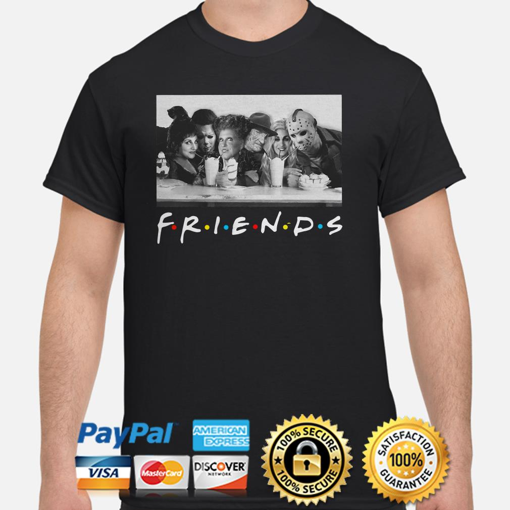 Sanderson Sisters and Michael Myers Freddy Krueger Jason Voorhees Party Friends shirt