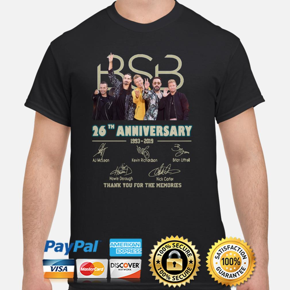 SBS 26th anniversary signatures thank you for the memories shirt