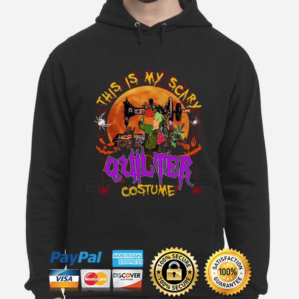 Sewing this is my scary quilter costume Halloween hoodie
