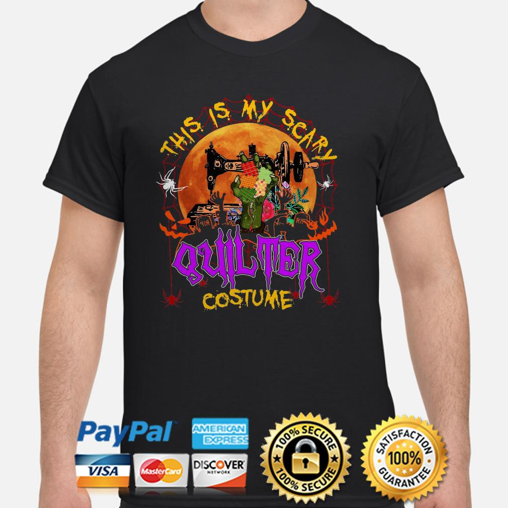 Sewing this is my scary quilter costume Halloween shirt