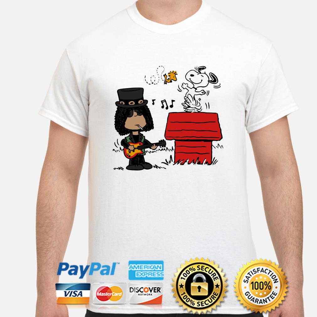 Slash and Snoopy and Woodstock shirt