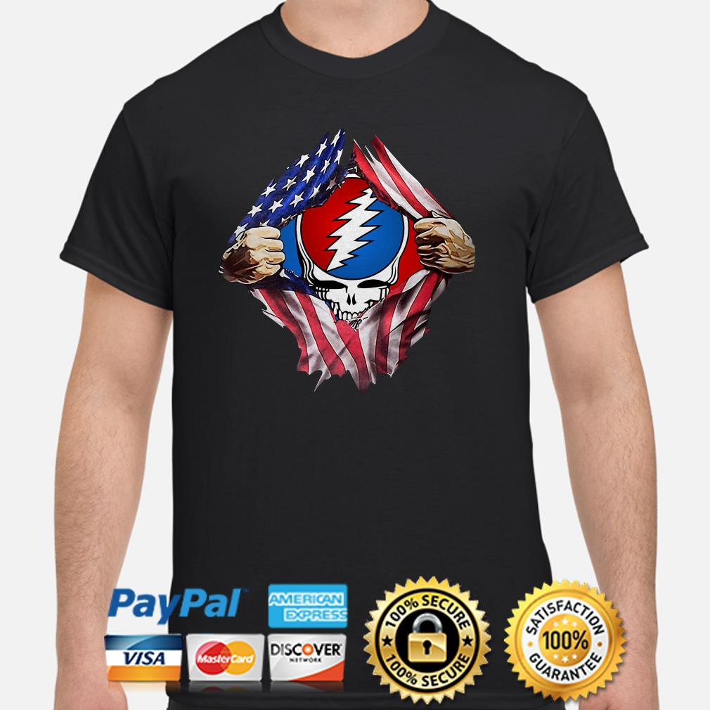 Steal Your Face in my heart American flag shirt