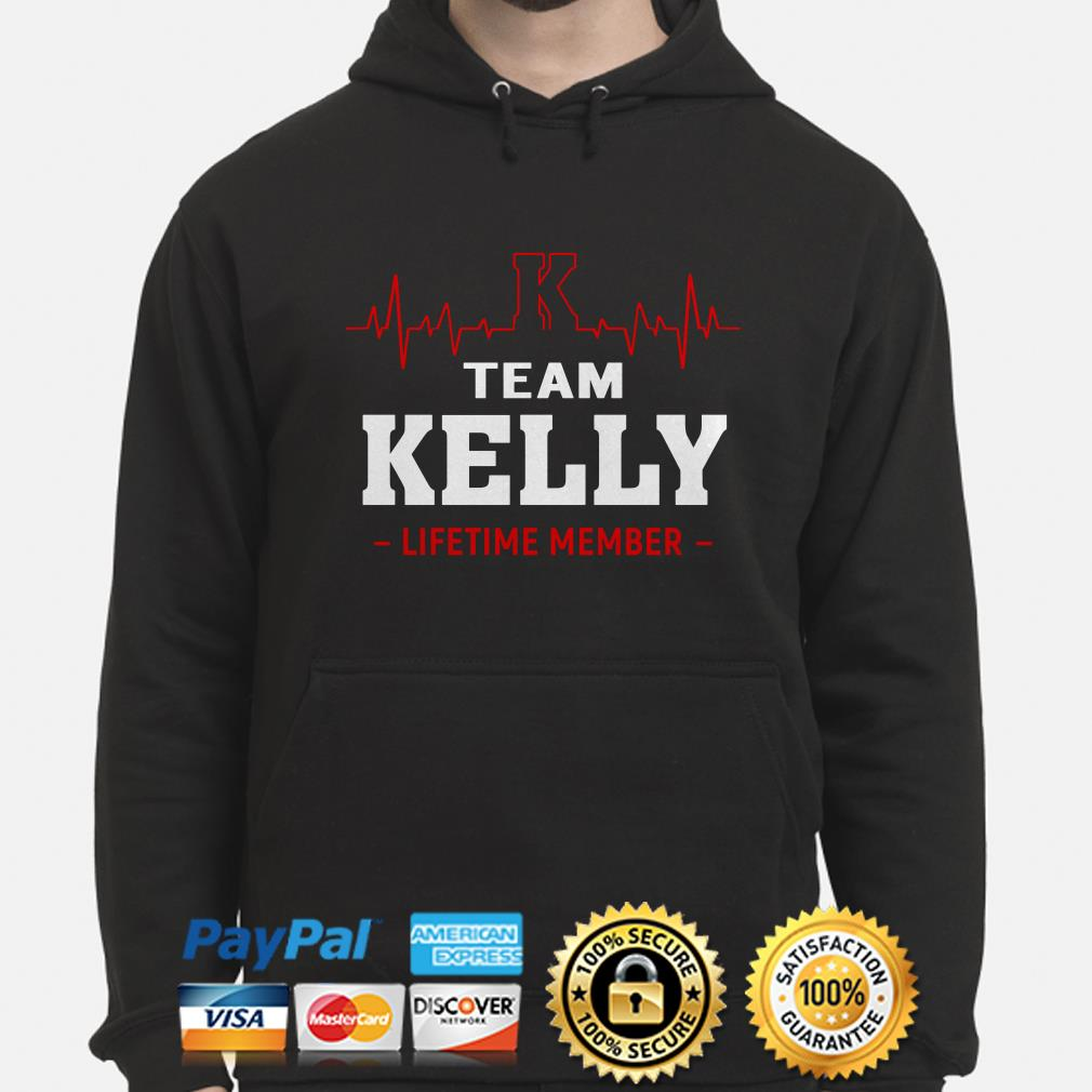 Team Kelly lifetime member heartbeat hoodie