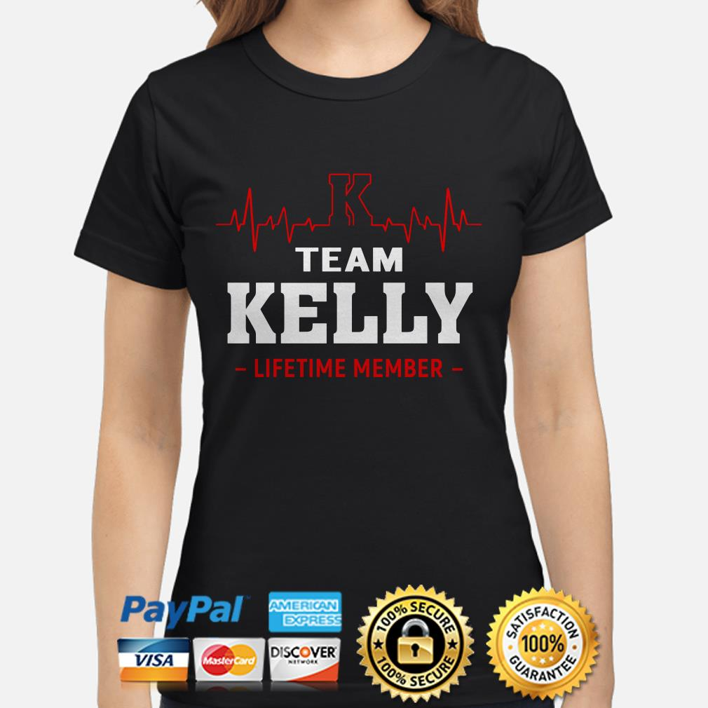 Team Kelly lifetime member heartbeat ladies shirt