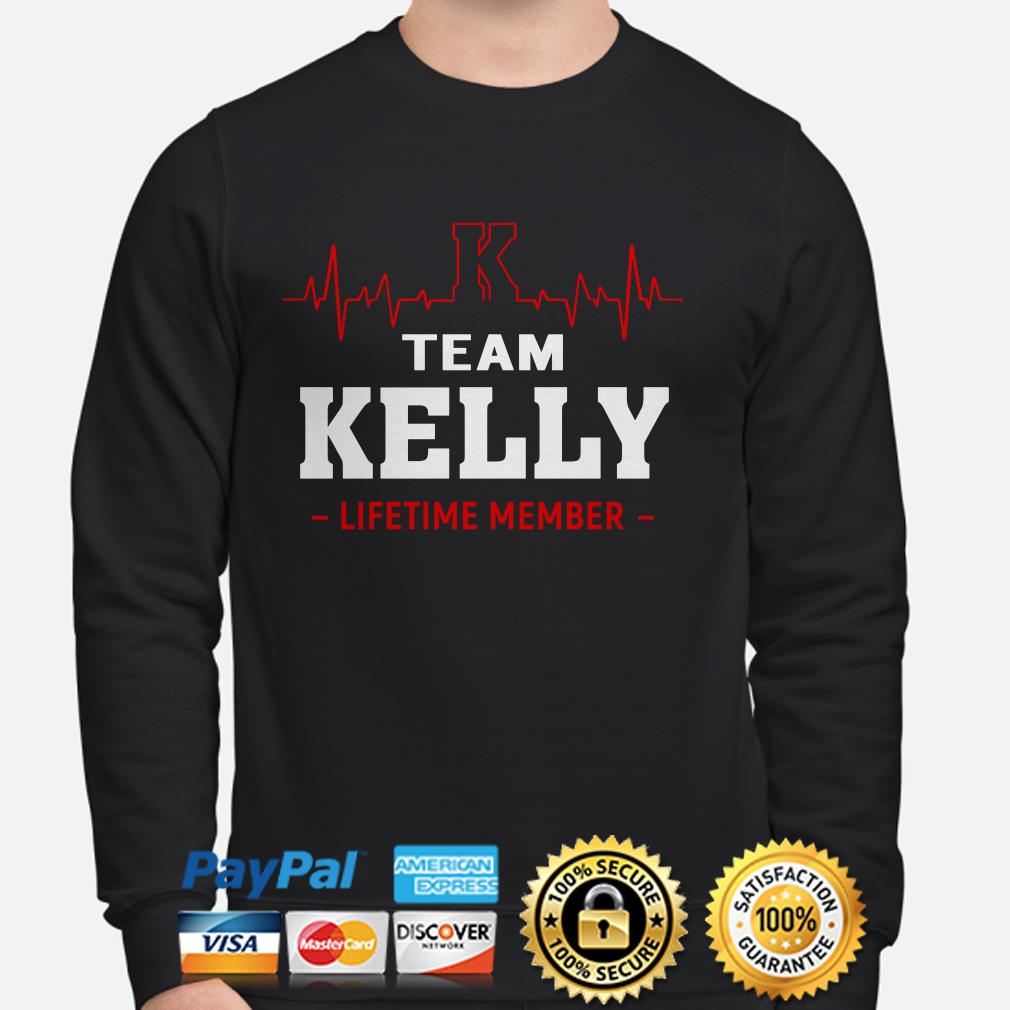 Team Kelly lifetime member heartbeat sweater