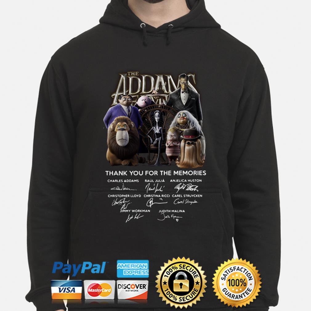 The Addams Family thank you for the memories signatures hoodie