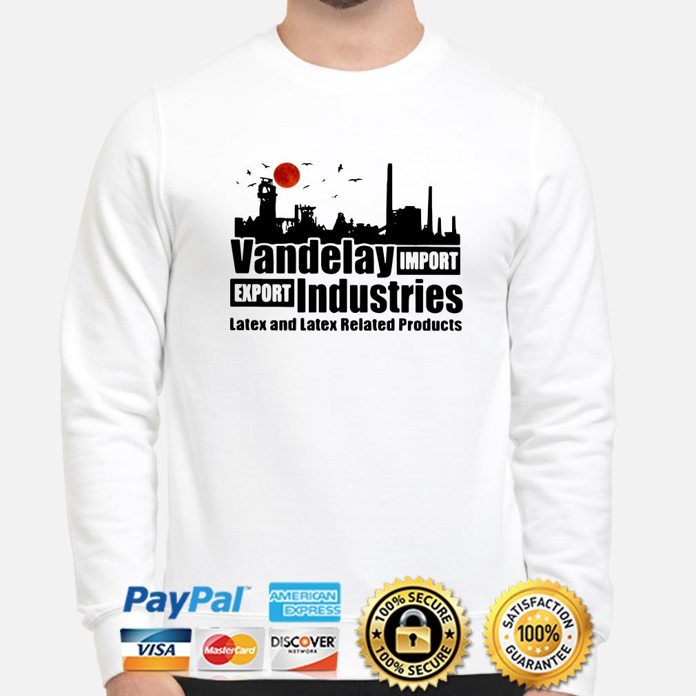 Vandelay import-export Industries Latex and Latex related products sweater