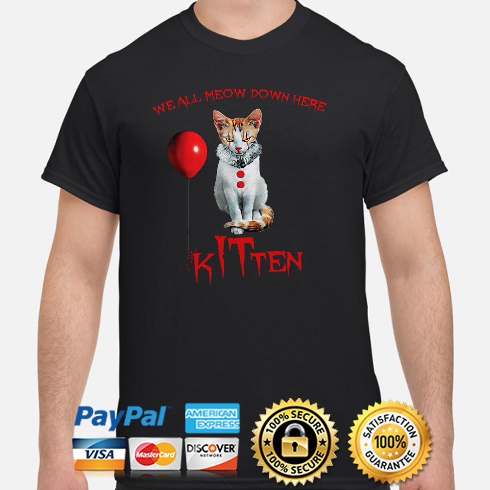 We all Meow down here Kitten IT shirt