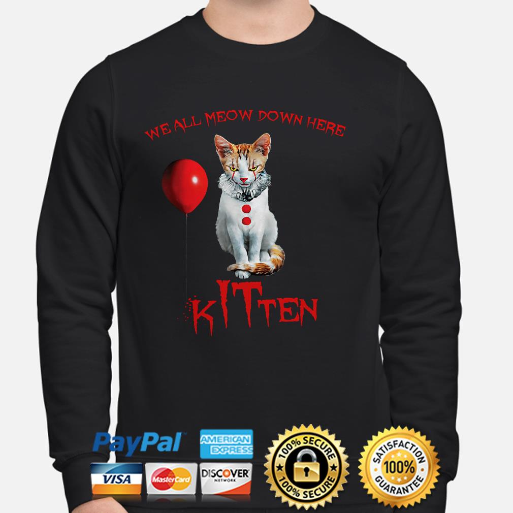 We all Meow down here Kitten IT sweater