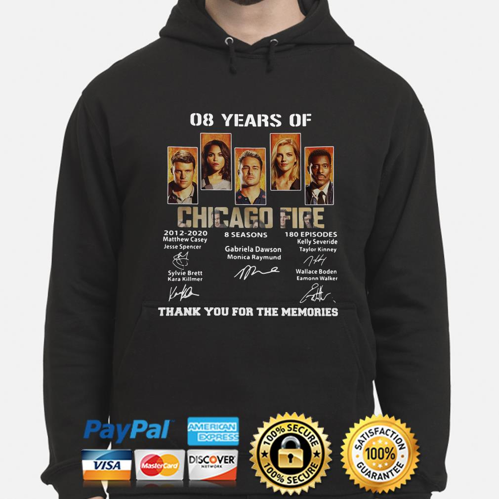 08 years of Chicago Fire thank you for the memories hoodie