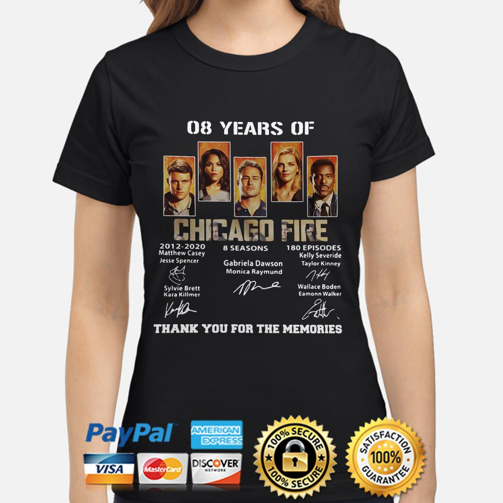 08 years of Chicago Fire thank you for the memories ladies shirt