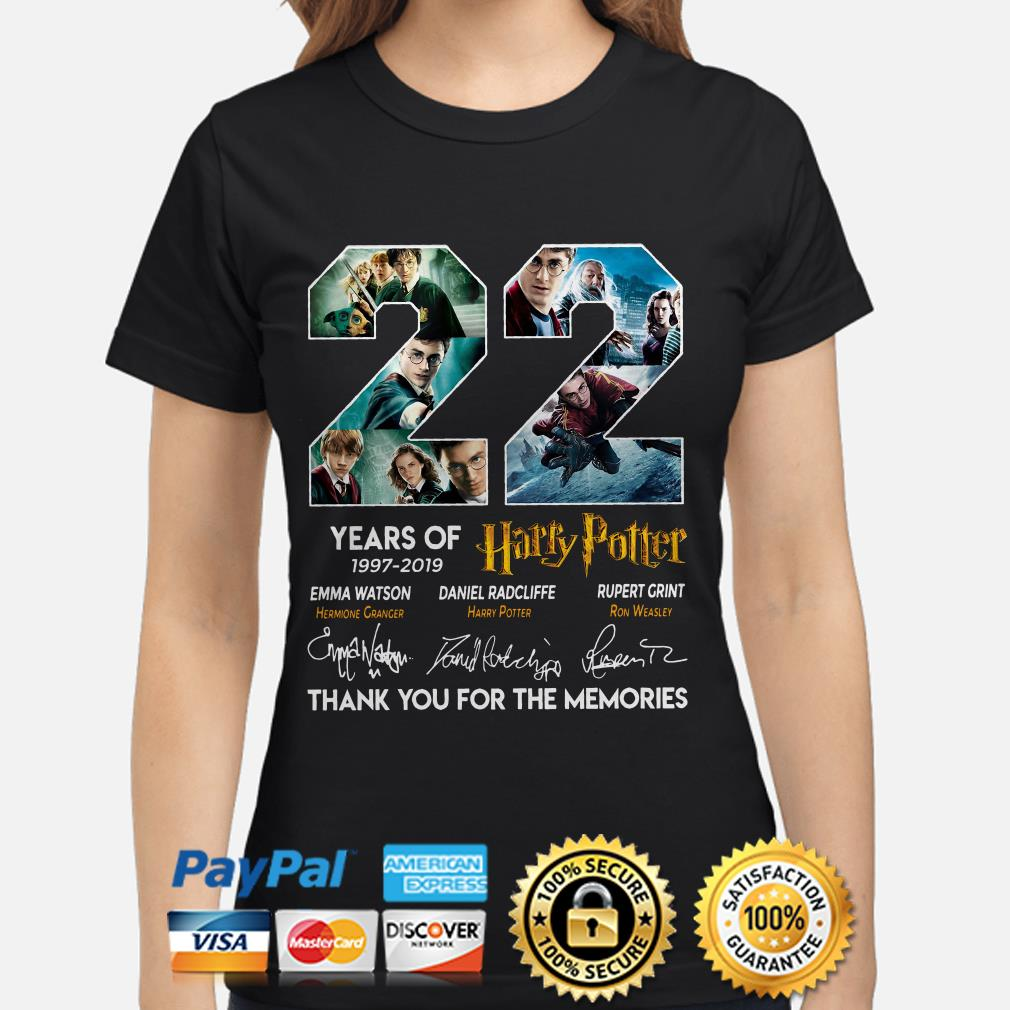 22 years of Harry Potter thank you for the memories ladies shirt