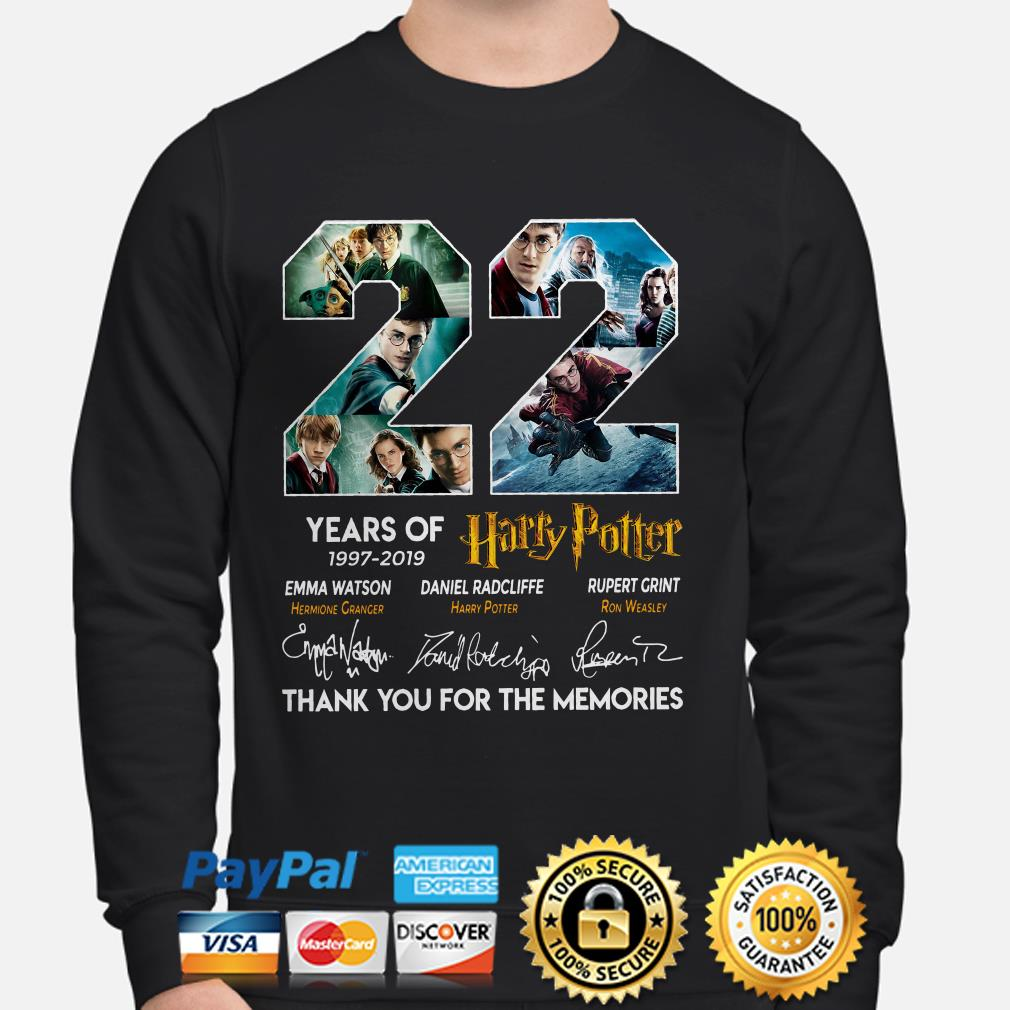 22 years of Harry Potter thank you for the memories sweater