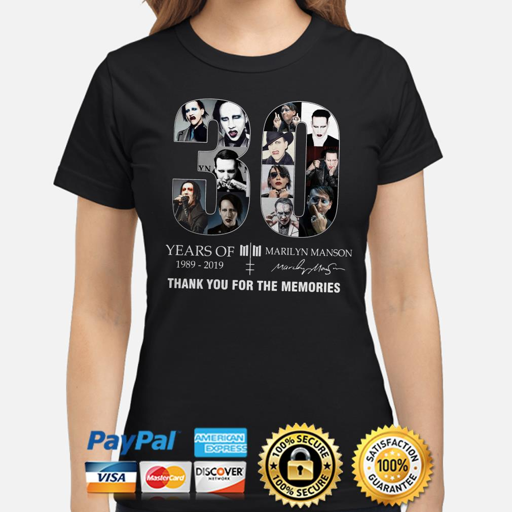 30 years of Marilyn Manson thank you for the memories ladies shirt