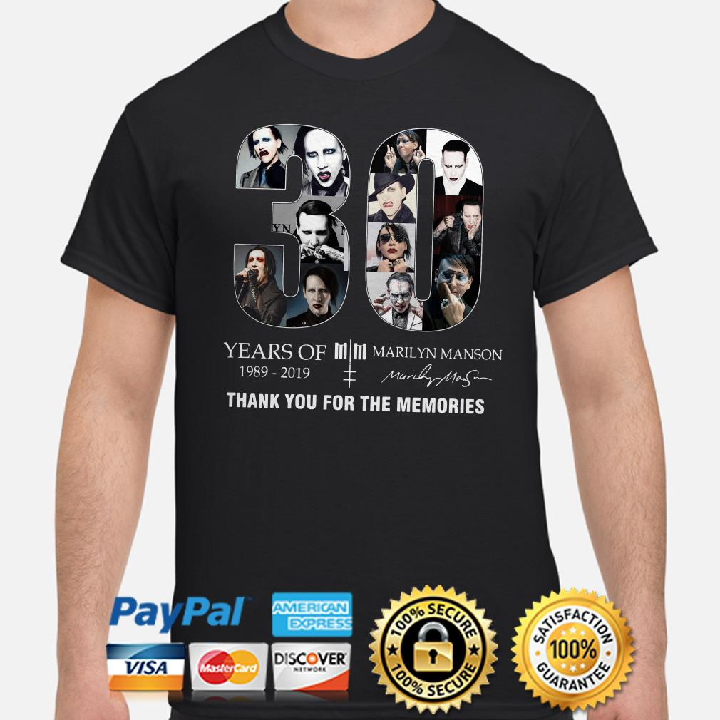 30 years of Marilyn Manson thank you for the memories shirt