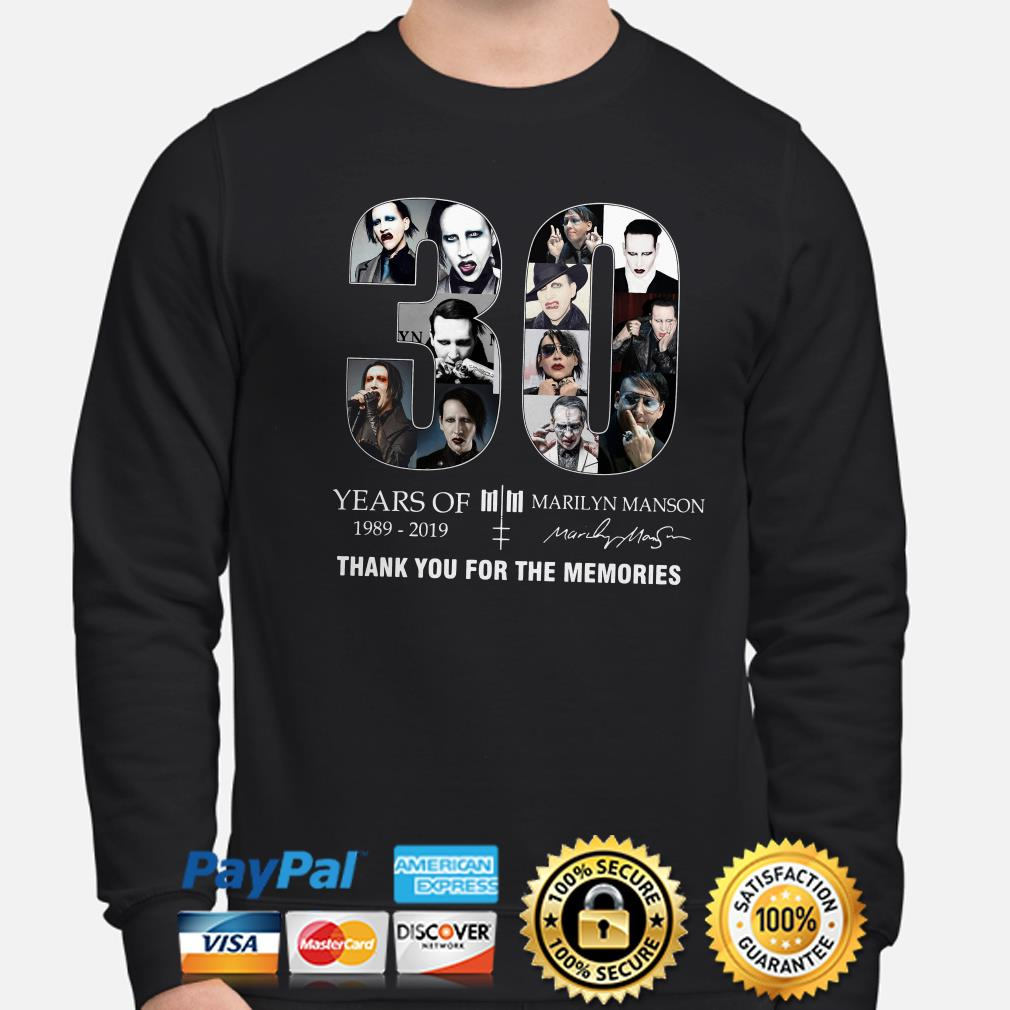 30 years of Marilyn Manson thank you for the memories sweater