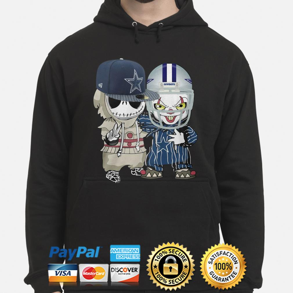 Baby Jack Skellington and Pennywise Dallas Cowboys hoodie