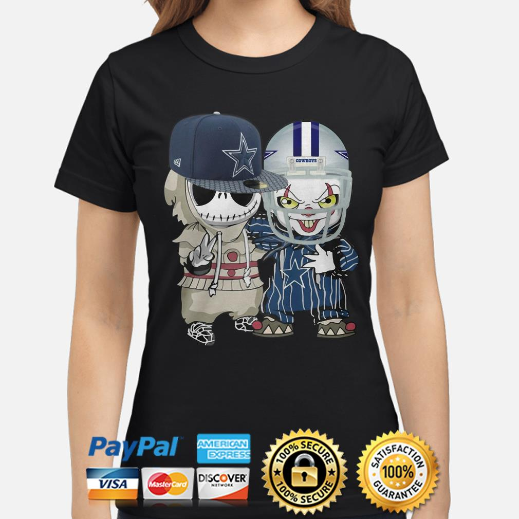 Baby Jack Skellington and Pennywise Dallas Cowboys ladies shirt