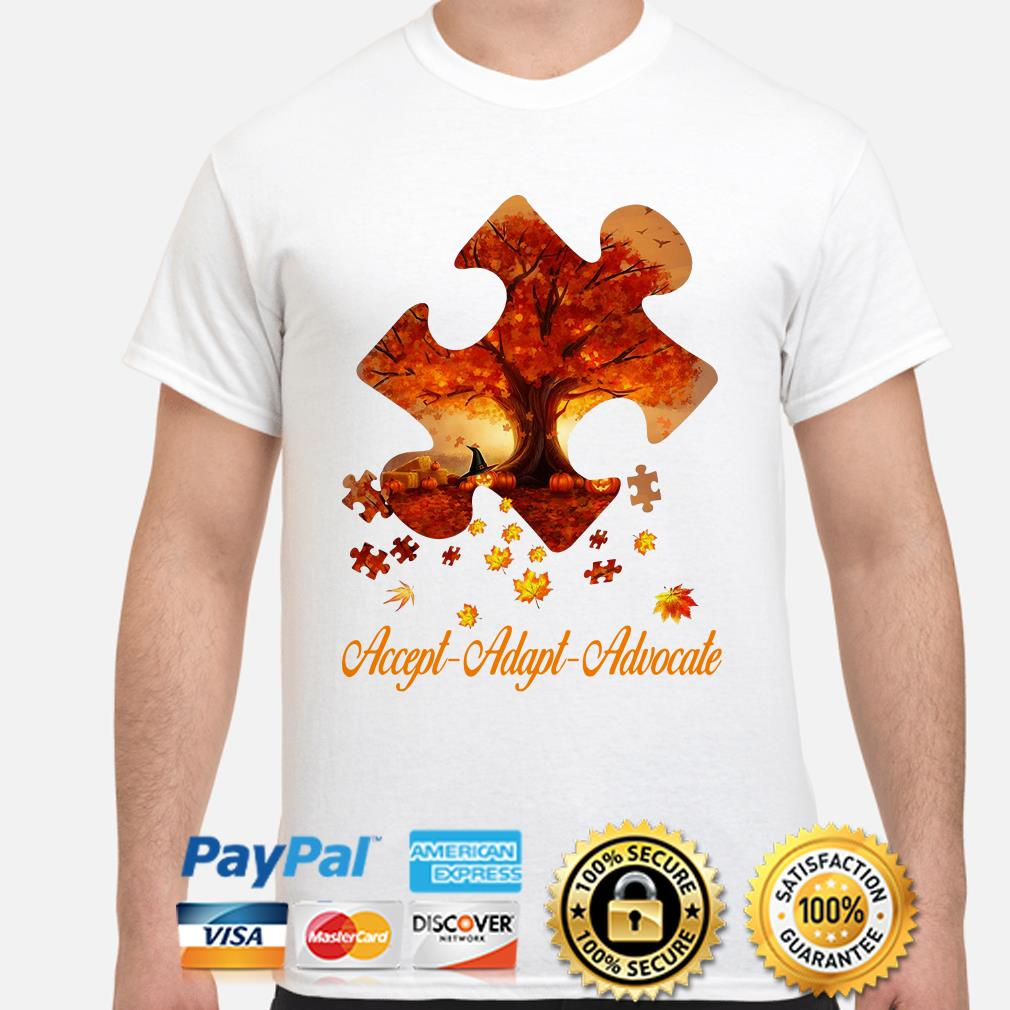 Autism Maple pumpkin Accept adapt Advocate shirt