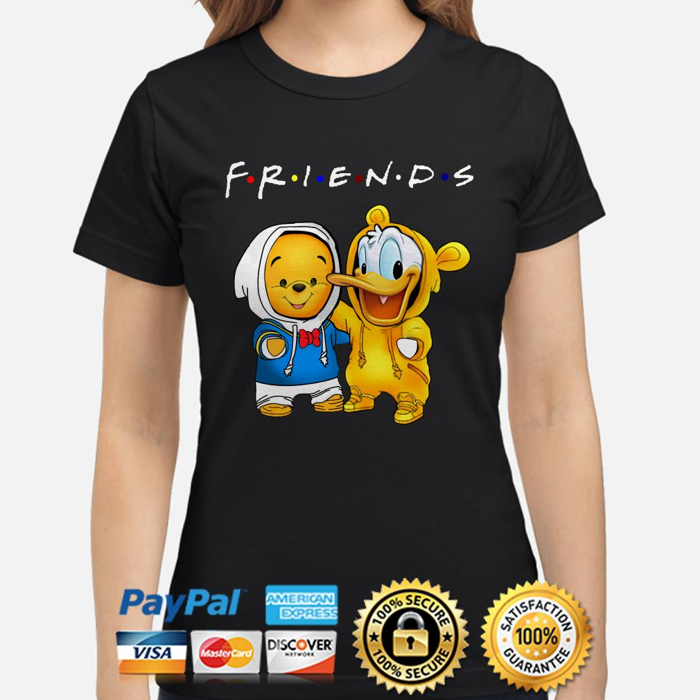 Baby Winnie Pooh and Donald duck Friends ladies shirt