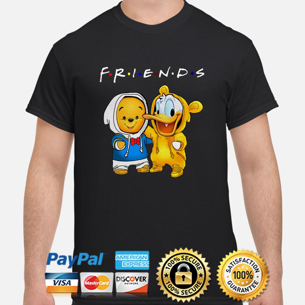 Baby Winnie Pooh and Donald duck Friends shirt